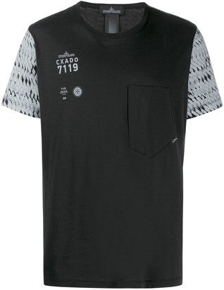 Stone Island Shadow Project colour-block T-shirt