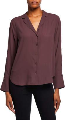 NYDJ Notched-Collar Button-Down Shirt