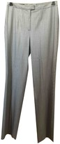 Escada Grey Wool Trousers for Women