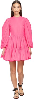 Valentino Ruffled Technical Taffeta Mini Dress