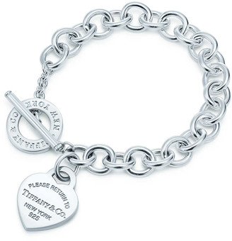 Tiffany & Co. Return to TiffanyTM heart tag toggle bracelet in sterling silver, medium