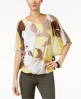 Alfani Dolman-Sleeve Blouson Top, Only at Macy's