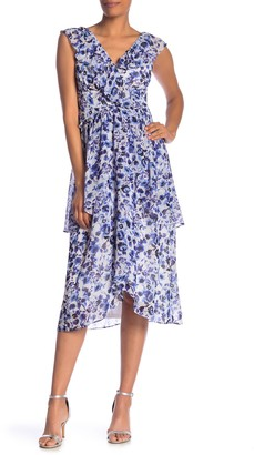 Rachel Roy Floral Layered Woven Dress