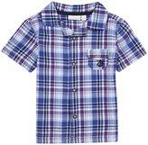 Jo-Jo JoJo Maman Bebe Check Shirt (Baby)-Blue-6-12 Months