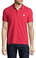 Moncler Tipped Piqué; Polo Shirt, Red