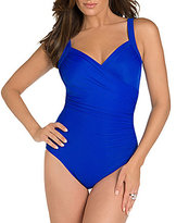 Miraclesuit Must Have Sanibel V Surplice Neck Underwire Tummy Control One Piece