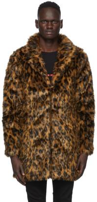Stolen Girlfriends Club Brown and Black Leopard Viper Room Coat