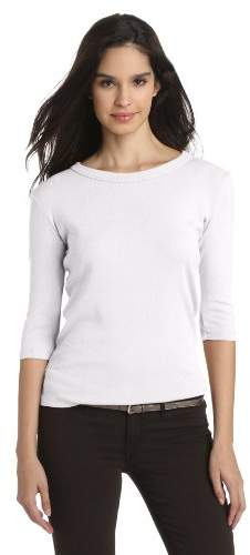 Michael Stars Women's Basic Three-Quarter Sleeve Tee Shirt