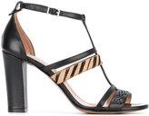 Twin-Set zebra strap T-bar sandals - women - Leather - 36