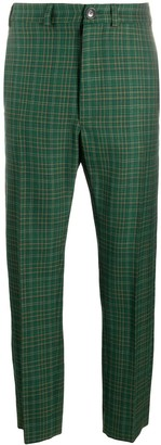 Vivienne Westwood Checked Straight-Leg Tailored Trousers