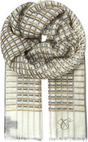 Canali Checked Cotton-blend Scarf