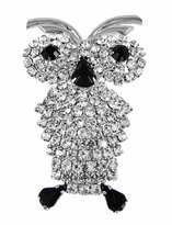 Zeckos Beautiful Rhinestone Encrusted Owl Pin Brooch