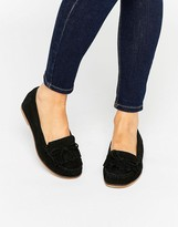 Carvela Mock Moccasin Suede Flat Shoes