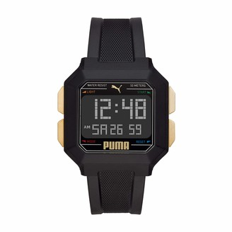 Puma Unisex Remix Polyurethane Watch Color: Black/Gold (Model: P5060)
