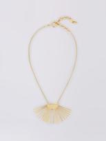 Diane von Furstenberg Gold Fan Short Pendant Necklace
