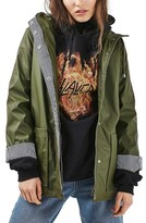 Topshop Women's Ivy Hooded Rain Jacket
