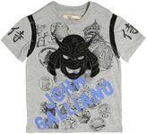 John Galliano Kabuto Patch Cotton Jersey T-Shirt