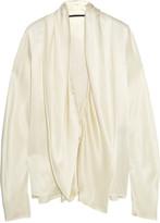 Haider Ackermann Draped Silk-satin Blouse - Ivory