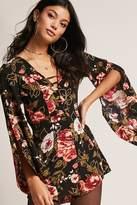 Forever 21 Selfie Leslie Floral Cutout Romper