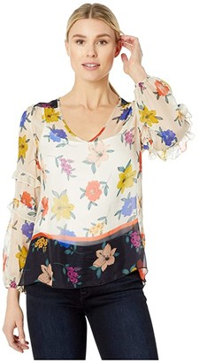 Johnny Was Salma Mixed Top (Multi) Women's Clothing