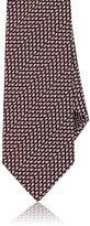 Ermenegildo Zegna Men's Geometric Silk Necktie-RED