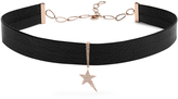 Diane Kordas Diamond, rose-gold & leather choker