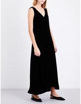 Theory V-neck velvet slip dress