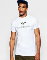 Creative Recreation Slim Fit T-shirt With Logo - White