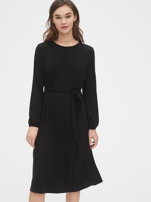 Gap Tie-Waist Midi Dress in TENCEL