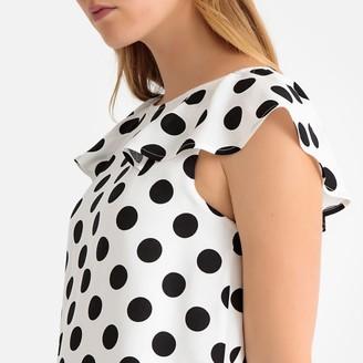La Redoute Collections Ruffled Polka Dot Print Shift Dress