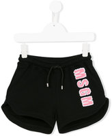 MSGM logo appliqué shorts - kids - Cotton - 6 yrs