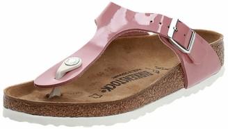Birkenstock Tongs Gizeh Birko-flor Vernis Old Rose Womens Sandal