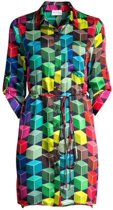 Milly Abstract Twill Shirtdress