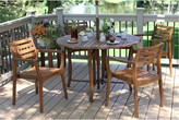 Outdoor Interiors 5Pc Folding Table & Chair Set
