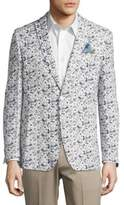 Tallia Orange Flower-Print Sportcoat