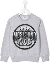 Moschino Kids - logo print sweatshirt - kids - Cotton - 4 yrs