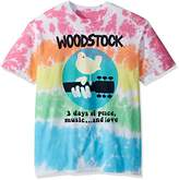 Liquid Blue Men's Woodstock Banded Tie Dye Short Sleeve T-Shirt