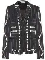 Edun Embellished pinstriped blazer