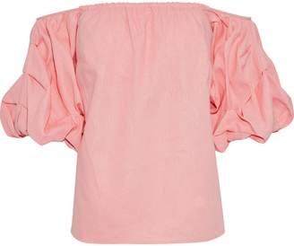 Petersyn Tara Off-the-shoulder Linen-blend Top