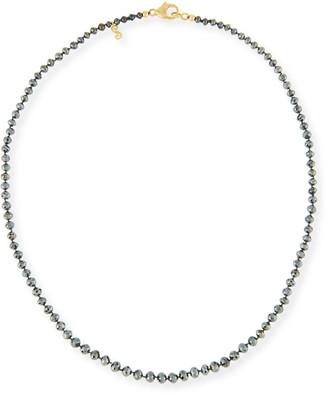 "Black Diamond Splendid Company Faceted Round Necklace, 18"""