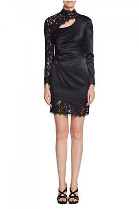 Paper Dolls Aidan Mattox Liquid Satin And Lace Dress