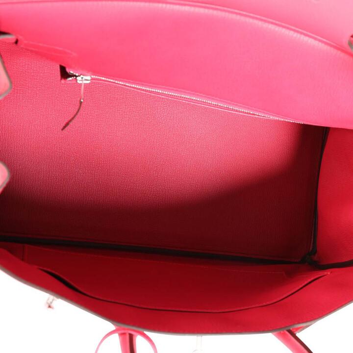 Thumbnail for your product : Hermes Rose Epsom Leather Palladium Hardware Birkin 35 Bag