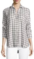Frank And Eileen Eileen Grid-Print Long-Sleeve Button-Front Shirt