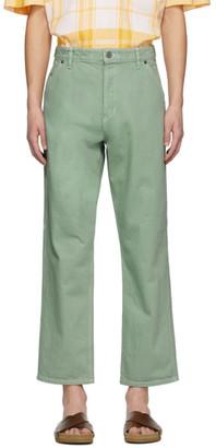 Jacquemus Green Le De Nimes Jeans
