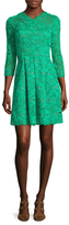 Shoshanna Lace Fit And Flare Dress