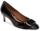 French Sole Women's Shell Grommeted Kiltie Pump