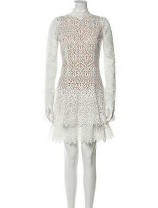 Jonathan Simkhai Lace Pattern Mini Dress White