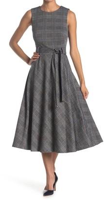 Calvin Klein Sleeveless Belted A-Line Dress