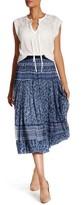 Rebecca Taylor Mar Paisley Silk Blend Skirt