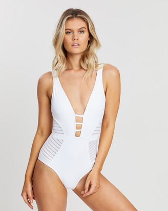Jets Parallels Plunge One-Piece